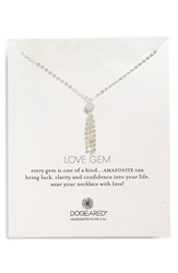 Women's Dogeared 'Love Gem' Tassel Chain Pendant Necklace Amazonite Silver
