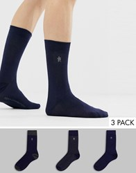 French Connection 3 Pack Socks Multi