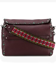 Valentino 'Rockstud Rolling' Messenger Bag Red