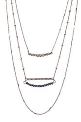 Stephan And Co Layered Beaded Necklace Multi