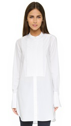 Vince Knife Pleat Tunic White