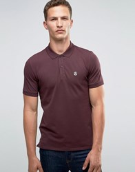 Selected Homme Pique Polo Shirt Burgandy Red