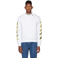 Off White Ssense Exclusive And Yellow Acrylic Arrows Sweatshirt