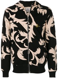 Vivienne Westwood Patterned Zip Hoodie Cotton Xl Black
