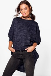 Boohoo Oversized Jumper Navy