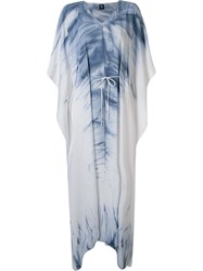 Skinbiquini Long Tie Dye Beach Dress Blue