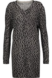 Equipment Eunice Printed Cashmere Sweater Dress Anthracite