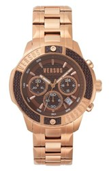 Versus By Versace Admiralty Chronograph Bracelet Watch 44Mm Rose Gold Brown