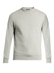 Frescobol Carioca Crew Neck Stretch Cotton Sweatshirt Grey