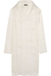 Baja East Hooded Linen And Silk Blend Tunic White