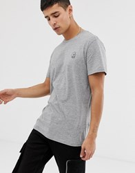 Cheap Monday Standard Tiny Skull T Shirt Gray