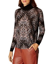 Karen Millen Plaid Sweater Black Multi