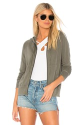 James Perse Classic Zip Up Hoodie Army