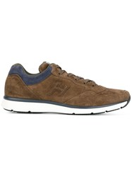 Hogan Lace Up Sneakers Brown