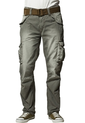 Schott Nyc Battle Cargo Trousers Kaki Oliv