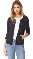 The Lady And The Sailor Knit Band Varsity Jacket Charcoal