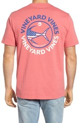 Vineyard Vines Men's Usa Tuna Graphic Pocket T Shirt Jetty Red