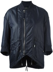 Diesel Black Gold Three Quarter Sleeve Bomber Jacket Black