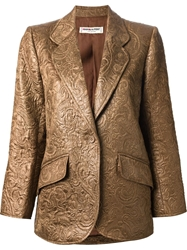 Yves Saint Laurent Vintage Brocade Blazer Brown