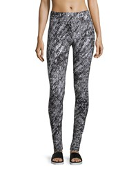 Marc New York Marc Ny Performance Printed Flat Waist Leggings White Scribble