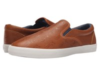 Bucketfeet Pineappleade Brown Leather Men's Slip On Shoes