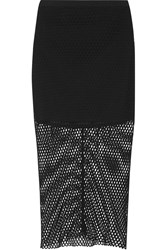 Mason By Michelle Mason Open Knit Midi Skirt Black