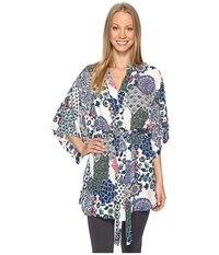 Josie Spring Fever Happi Coat Blue Multi Women's Pajama