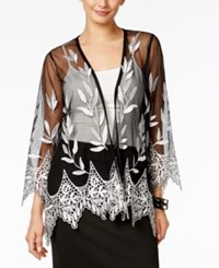 Alfani Embroidered Illusion Cardigan Only At Macy's Deep Black