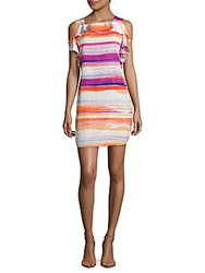 Amanda Uprichard Watercolor Stripe Dress Multi