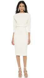 Badgley Mischka Collection Long Sleeve Dress Ivory
