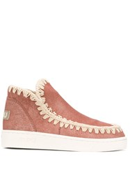 Mou Slip On Ankle Boots Pink
