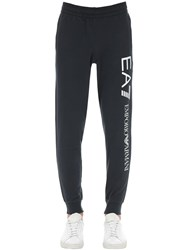 Emporio Armani Train Logo Cotton Sweatpants Navy