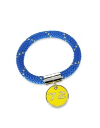 Marc By Marc Jacobs Blue Nylon And Silvertone Brass 72 Location Bangle