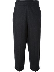 Fabiana Filippi Tapered Cropped Trousers Black