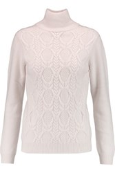 N.Peal Cashmere Cashmere Turtleneck Sweater White
