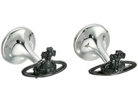 Vivienne Westwood Suzon Orb Cufflinks Nano Black Ruthenium Cuff Links