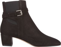Gianvito Rossi Buckle Strap Ankle Boots Black