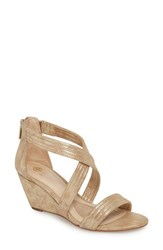 Isola 'S Fia Wedge Sandal Platino Distressed Suede