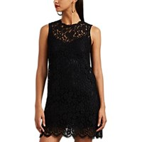 Dolce And Gabbana Floral Lace A Line Dress Black