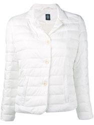 Eleventy High Neck Puffer Jacket Women Polyester Xs White