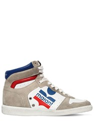 Isabel Marant 35Mm Bayten Leather High Top Sneakers White Multi