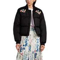 Off White C O Virgil Abloh Woman Embroidered Down Puffer Jacket Black