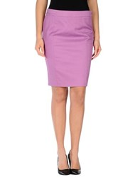 Ice Iceberg Skirts Knee Length Skirts Women Mauve