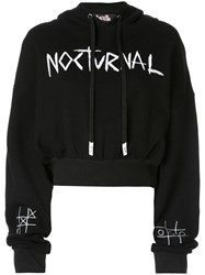 Haculla Cropped Hooded Sweatshirt Black
