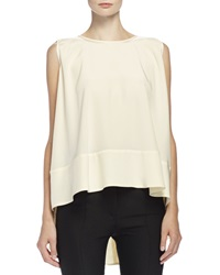 Alexander Mcqueen Sleeveless High Low Trapeze Top Bone