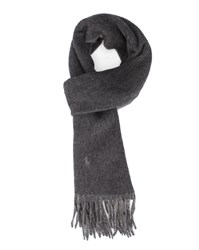 Polo Ralph Lauren Grey Double Faced Woollen Scarf