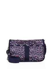 Le Sport Sac Essential Floral Hobo Bag Blue
