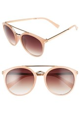 Women's Bp. 55Mm Oversize Mirrored Sunglasses Nude Gold Nude Gold