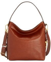 Fossil Maya Leather Hobo Brown