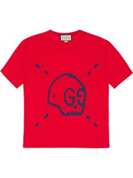 Guccighost Cotton T Shirt Women Cotton L Red